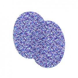 Coudières fleurs violettes - bleu/violet (la paire)