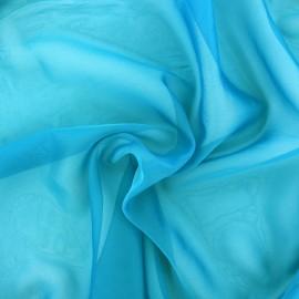 Tissu mousseline touché soie - canard x 50cm
