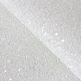 Glitter Fiesta Glass Fabric - white x10cm