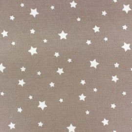 Coated cotton fabric Scarlet - light brown x 10cm