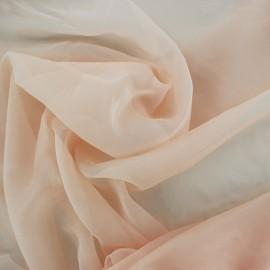 Tissu mousseline touché soie - nude x 50cm