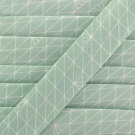 Bias binding Christel G Triangle - frozen mint x 1m