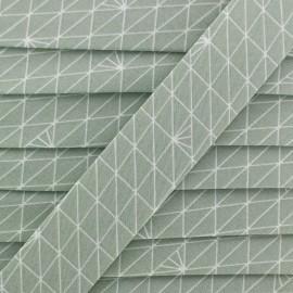 Bias binding Christel G Triangle - frozen lichen x 1m