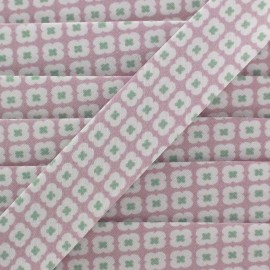 Bias binding Christel G Tormentille - frozen pink x 1m