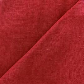 Tissu lin lavé Thevenon - bordeaux x 10cm