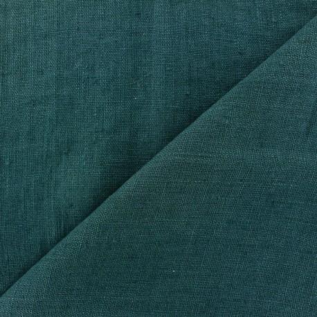 Tissu lin lav thevenon bleu paon x 10cm ma petite mercerie - Tissu lin lave au metre ...
