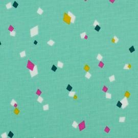 Tissu coton Dashwood Cotton Candy Remix - vert d'eau x 10cm