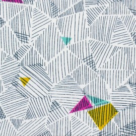 Tissu coton Dashwood Cotton Candy Abstract - blanc x 15cm