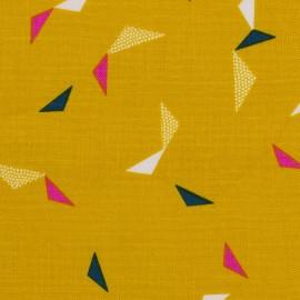 Tissu coton Dashwood Cotton Candy Origami - moutarde x 15cm