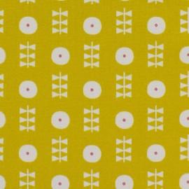 Tissu coton Dashwood Bloom Floral - moutarde x 10cm