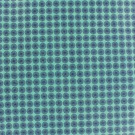 Tissu coton Makower UK Wrap it up pinwheel - turquoise x 10 cm
