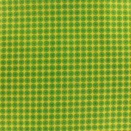 Tissu coton Makower UK Wrap it up pinwheel - green x 10 cm