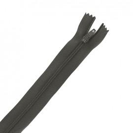 Fermeture éclair non séparable fine nylon -  gris plomb