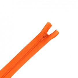 Fermeture éclair non séparable fine nylon -  orange