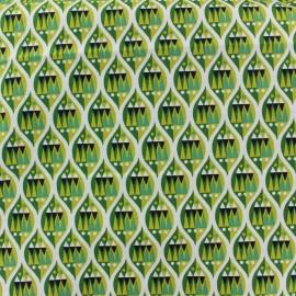 Tissu coton Makower UK Wrap it up ogee - green x 10 cm