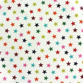 Tissu coton Makower UK Wrap it up star - white x 10 cm
