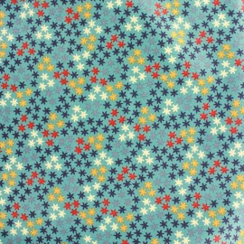 Tissu coton Makower UK Radiance star flower - turquoise x 10 cm