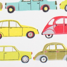 Tissu coton Dashwood Streetlife Cars - multi x 15cm