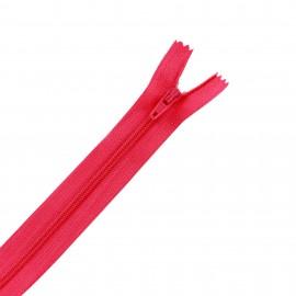 Fermeture éclair non séparable fine nylon - rose bonbon