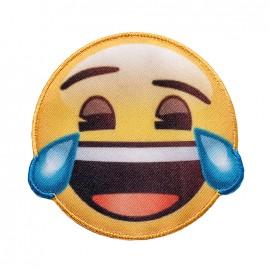 Thermocollant toile Emoji™ - Je ris à en pleurer !