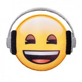 Thermocollant toile Emoji™ - J'écoute de la musique !