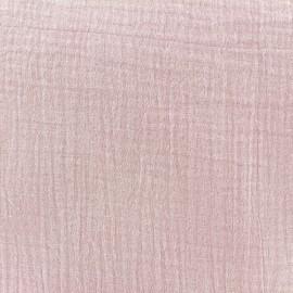 Tissu double gaze de coton douceurose x 10cm