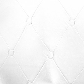 Imitation leather Chester - white x 36cm