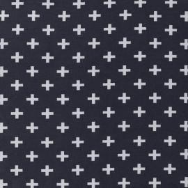 Tissu Jersey Croix - marine x 10 cm