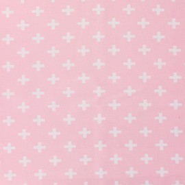 Jersey fabric Croix - pink x 10 cm