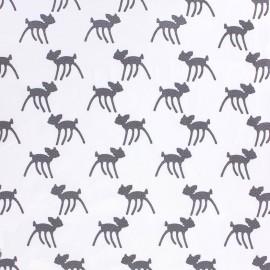 Tissu Jersey Bambi - blanc x 10 cm