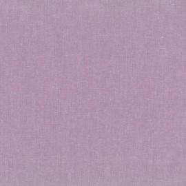 Tissu toile de coton lin uni - lilas x 10 cm