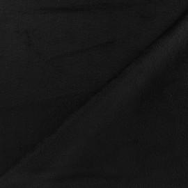 Tissu velours minkee réversible uni Toodoo - noir x 10cm