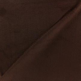 Tissu velours minkee réversible uni Toodoo - marron x 10cm