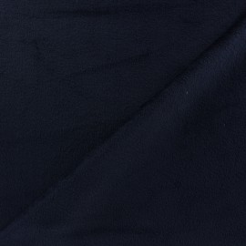 Tissu velours minkee réversible uni Toodoo - marine x 10cm