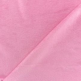Tissu velours minkee réversible uni Toodoo - rose clair x 10cm