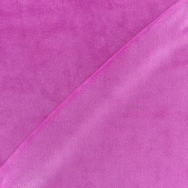 Tissu velours minkee réversible uni Toodoo - fuchsia x 10cm