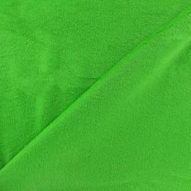 Reversible plain minkee velvet fabric Toodoo - light green x 10cm