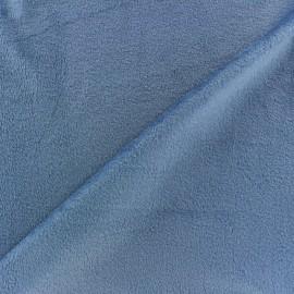 Tissu velours minkee réversible uni Toodoo - bleu pastel x 10cm