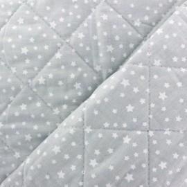 Tissu matelassé réversible Dousnui - gris clair x 10cm