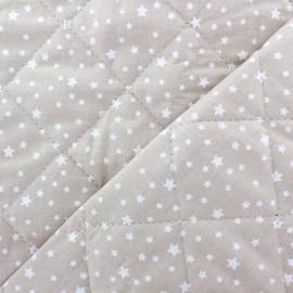 Tissu matelassé réversible Dousnui - taupe clair x 10cm