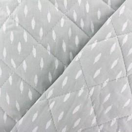 Tissu matelassé réversible Kioni - gris clair x 10cm