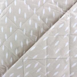 Tissu matelassé réversible Kioni - taupe clair x 10cm