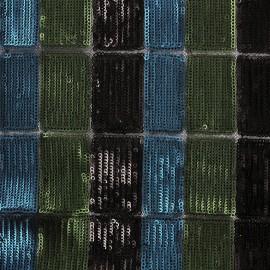 Tissu Paillettes sur tulle Stella - noir x 10cm