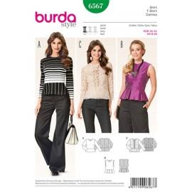 Blouse Burda Sewing Pattern N°6566