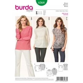 Blouse Burda Sewing Pattern N° 6568