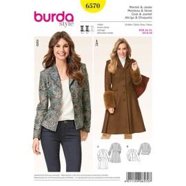 Coat & Jacket Burda Sewing Pattern N°6570