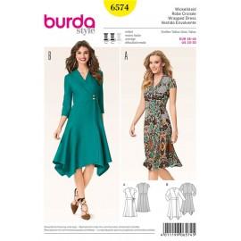 Wrapped Dress Burda Sewing Pattern N°6574