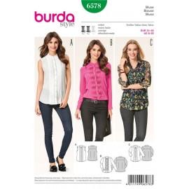Blouse Burda Sewing Pattern N°6578