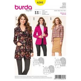 Jacket Burda Sewing Pattern N°6581
