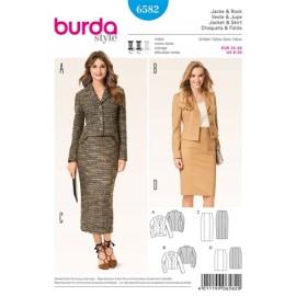 Jacket & Skirt Burda Sewing Pattern N°6582